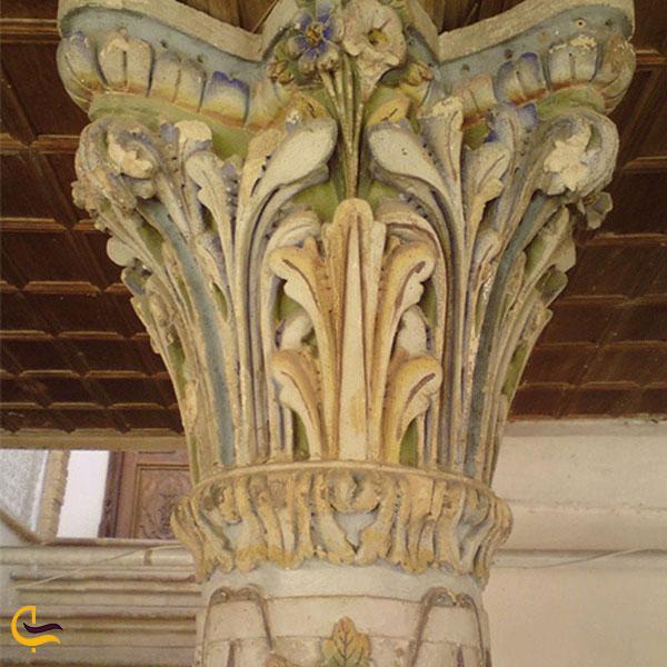 عکس ستون های قلعه سالار محتشم