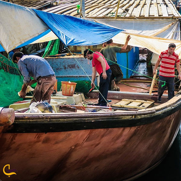 عکس اسکله صیادی در بندر دیلم