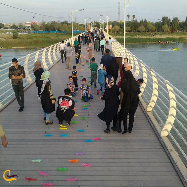 عکس تفریح در پل طبیعت اهواز