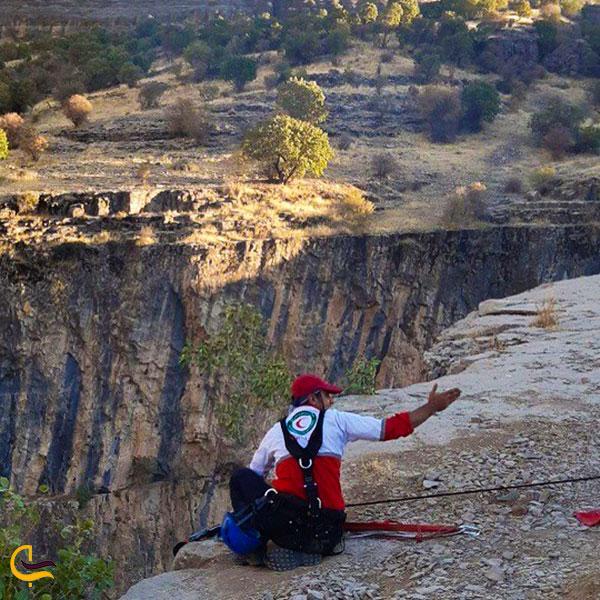 عکس جلیقههای نجات در بازدید از دره ویژدرون ایلام