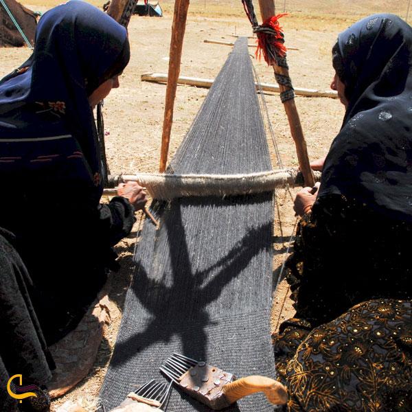 عکس ساخت سیاه چادر در کوهرنگ