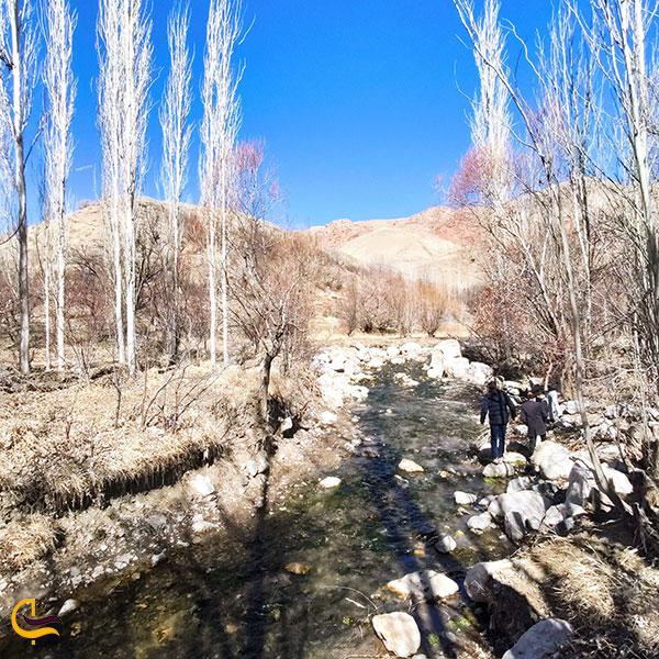 عکس مسیر کوهستانی ابشار رود معجن
