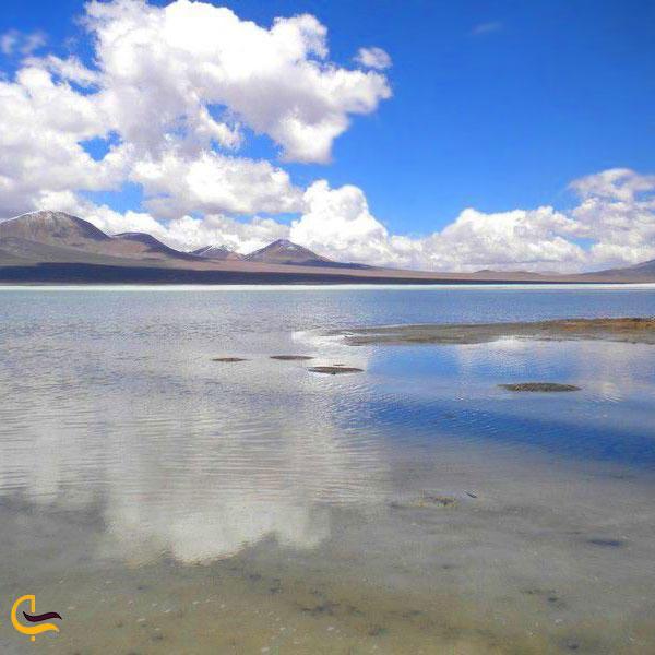 عکس دریاچه مخرگه در شهر بابک