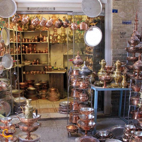 تصویری از بازار مسگرها یا بازار پنجه علی یزد