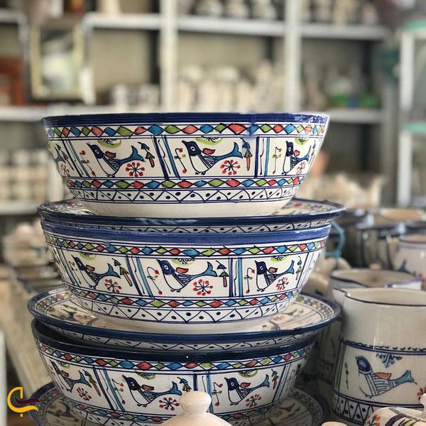 عکس ظروف سفالی در یزد