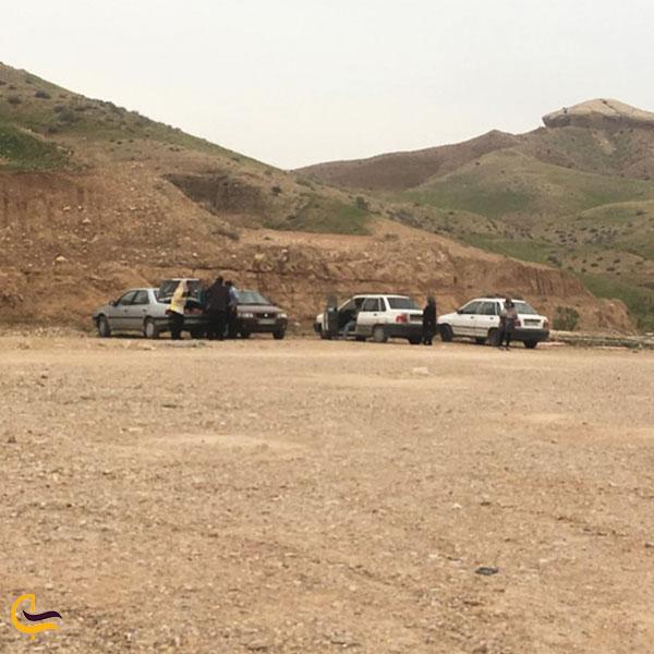 عکس مسیر جاده غار زینگان مهران