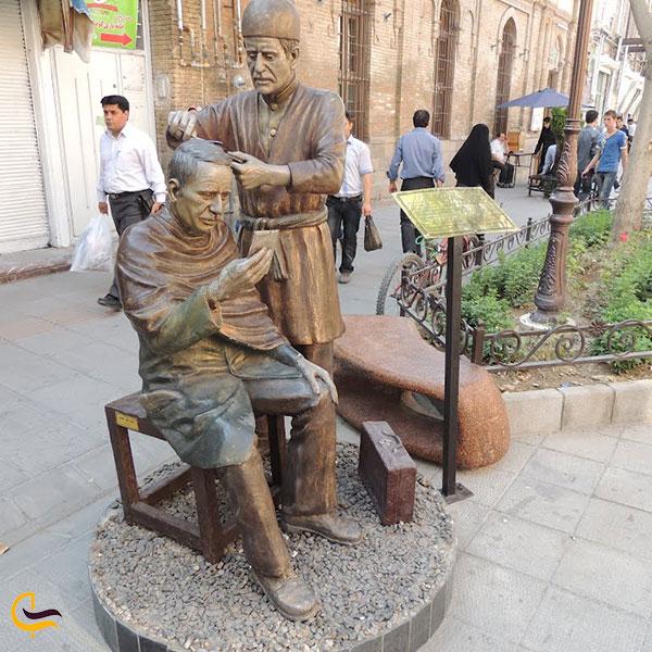 عکس مجسمههای خیابان تربیت تبریز