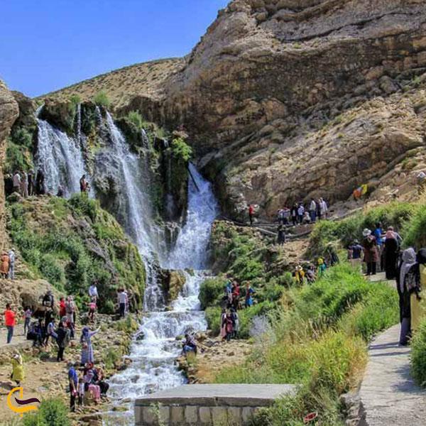عکس آبشار شیخ علی خان کوهرنگ