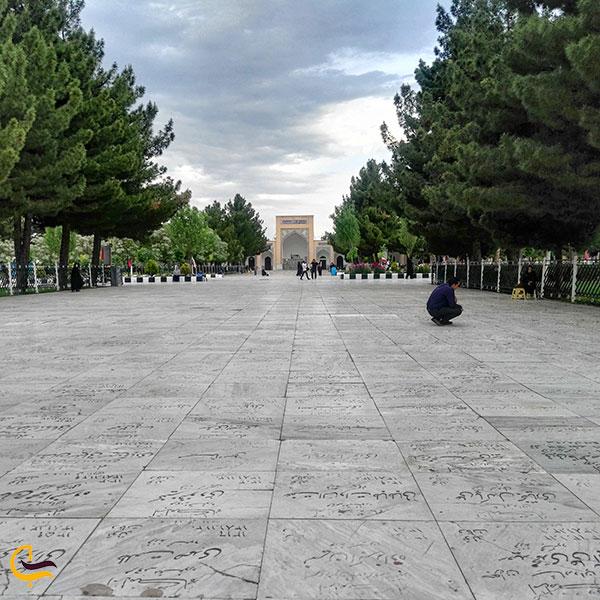 عکس قبرستان اسلامی در آرامگاه خواجه ربیع