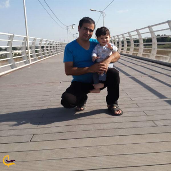 عکس بازدید از پل طبیعت اهواز