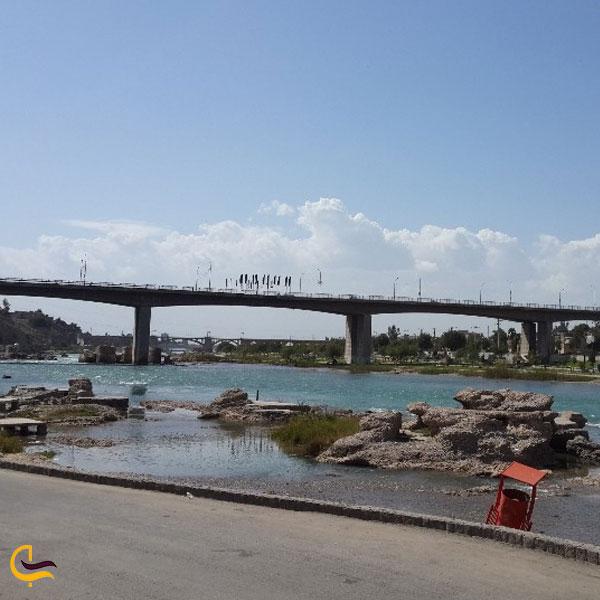تصویری از پل شریعتی دزفول معروف به پل جدید