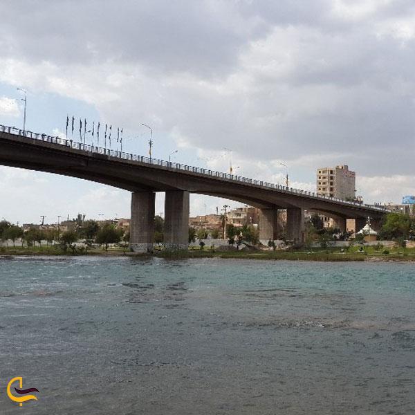 تصویری از پل سوم یا پل مقاومت یا پل رودبند دزفول